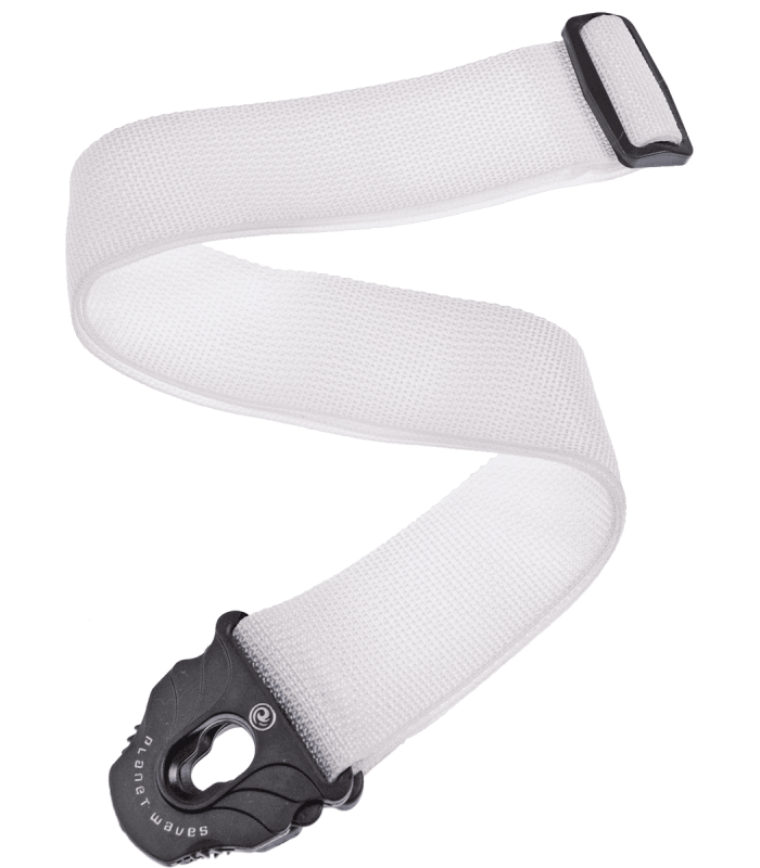 PLANET WAVES - COURROIE POLY P.LOCK BLANCHE