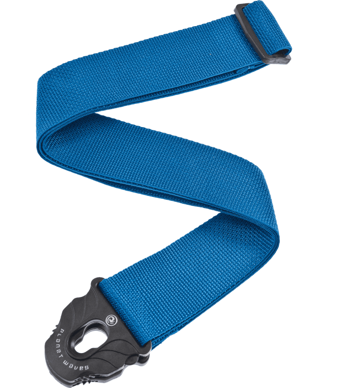 PLANET WAVES - COURROIE POLY P.LOCK BLEUE