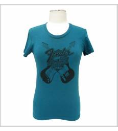 FENDER - LADIES INNOVATION T-SHIRT EVERGREEN TAILLE L