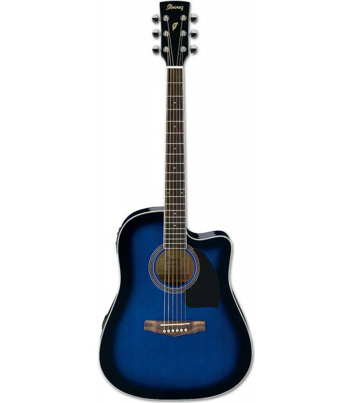 IBANEZ - PF15ECE-TBS - transparent blue sunburst