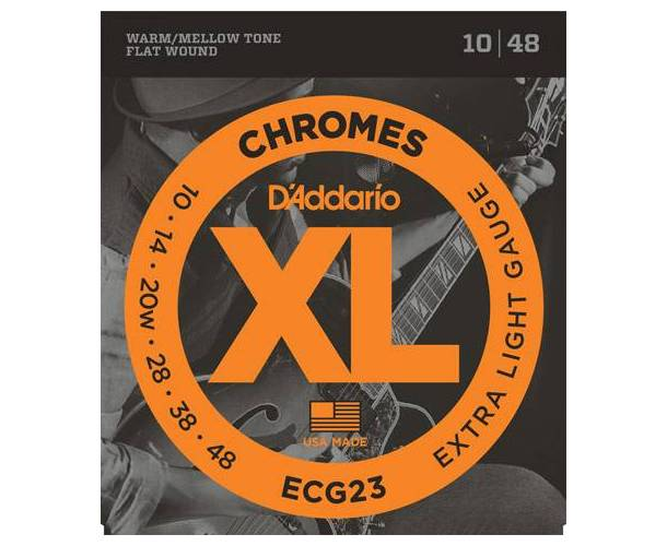D'ADDARIO ECG23 CORDES GUITARE JAZZ LIGHT 10-48