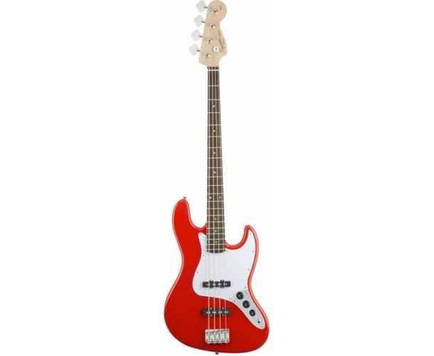 SQUIER - AFFINITY SERIES  JAZZ BASS RACE RED