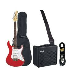 HURRICANE MUSIC PACK ELECTRIQUE YAMAHA PACIFICA RED