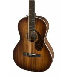 FENDER PM-2E PARLOR ALL-MAHOGANY, ANTIQUE COGNAC BURST