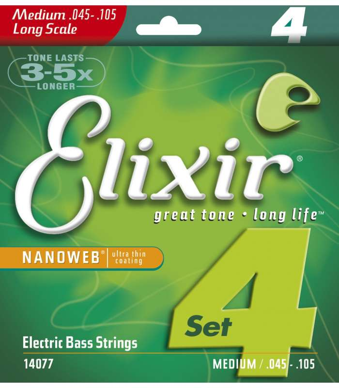 ELIXIR -14077 NANOWEB BASS LONG SCALE MEDIUM 45-105