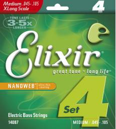 ELIXIR - NANOWEB BASS EXTRA LONG SCALE MEDIUM 45-105