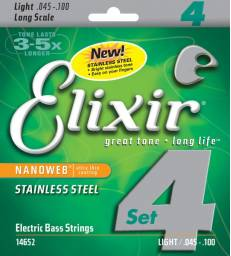 ELIXIR - NANOWEB BASS LONG SCALE STAINLESS STEEL LIGHT 45-100