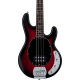 STERLING BY MUSIC MAN - RAY4-RRBS-R1 STINGRAY RUBY RED BURST SATIN