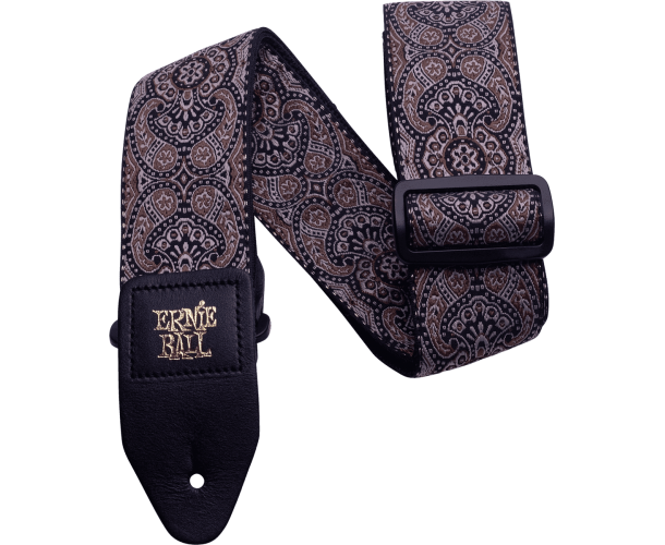 ERNIE BALL - SANGLE JACQUARD GOLD AND BLACK PAISLEY