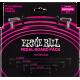 ERNIE BALL - CABLES INSTRUMENT PATCH MULTIPACK - COUDé FIN & PLAT
