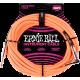 ERNIE BALL - CABLES INSTRUMENT GAINE TISSéE JACK/JACK COUDé 3M ORANGE