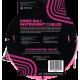 ERNIE BALL - CABLES INSTRUMENT GAINE TISSéE JACK/JACK COUDé 3M ROSE FLUO