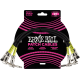 ERNIE BALL - CABLES INSTRUMENT PATCH PACK DE 3 - COUDé - 30CM NOIR
