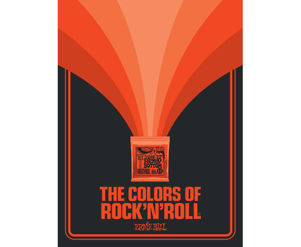 ERNIE BALL - POSTER COLORS OF ROCK'N ROLL SLINKY TOP HEAVY BOTTOM