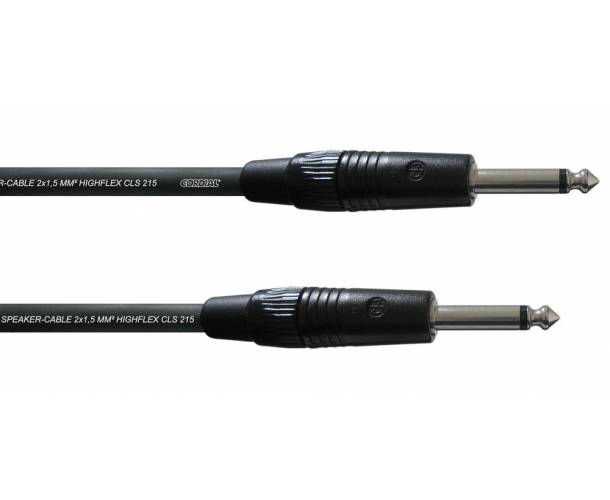 Cordial - câble HP Jack M / Jack M 2 x 1.5mm2 1.5m PEAK