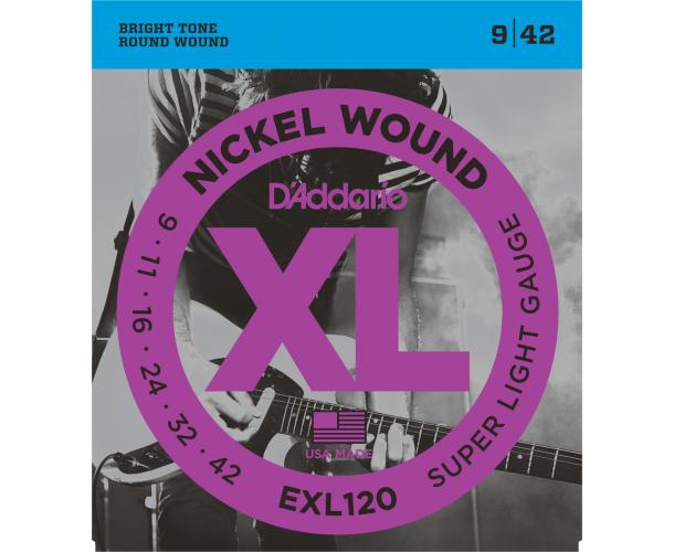 D'ADDARIO - Cordes guitare électrique EXL120