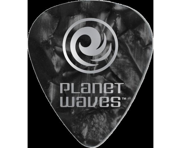 PLANET WAVES - 25 MEDIATORS CELLULOID NOIR NACRE 1MM