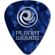 PLANET WAVES - 10 MEDIATORS CELLULOID BLEU NACRE ,50MM