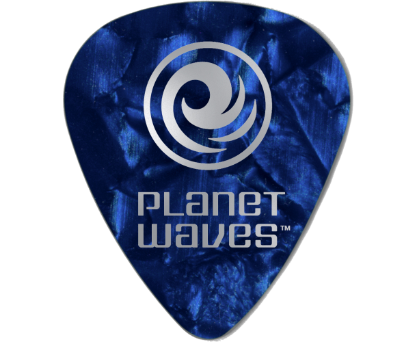 PLANET WAVES - 10 MEDIATORS CELLULOID BLEU NACRE 1,25MM
