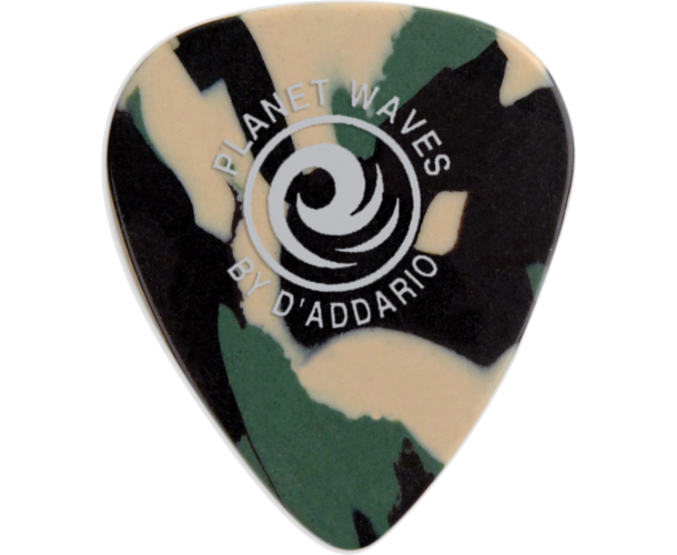 PLANET WAVES - 25 MEDIATORS CELLULOID CAMO ,75MM