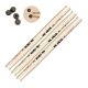 VIC FIRTH - PACK 3 PAIRES 55A + PRACTICE TIPS