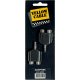 YELLOW CABLE - ADAPTATEUR JACK STEREO 3.5 MALE / RCA FEMELLE X2 (LA PAIRE)