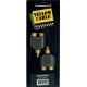 YELLOW CABLE - ADAPTATEUR RCA MALE / RCA FEMELLE (X2) ( LA PAIRE)
