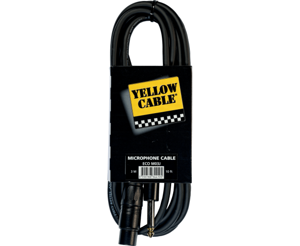 YELLOW CABLE - JACK MALE/XLR FEM 3M