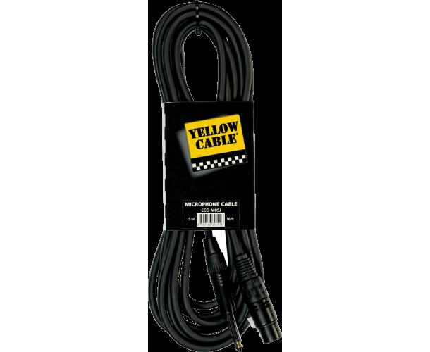 YELLOW CABLE - M05J CORDON MICRO JACK MONO MALE / XLR FEMELLE 5 M