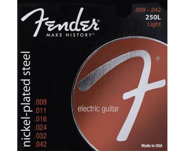 FENDER - CORDES SUPER NICKEL-PLATED 250L