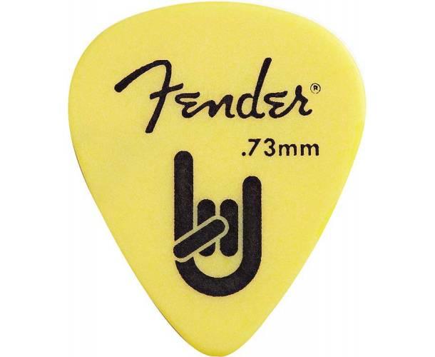 FENDER - Fender® Rock-On Touring Picks 351 Shape Medium .73 MM Yellow 12 Count
