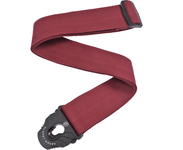 PLANET WAVES - COURROIE POLY P.LOCK ROUGE