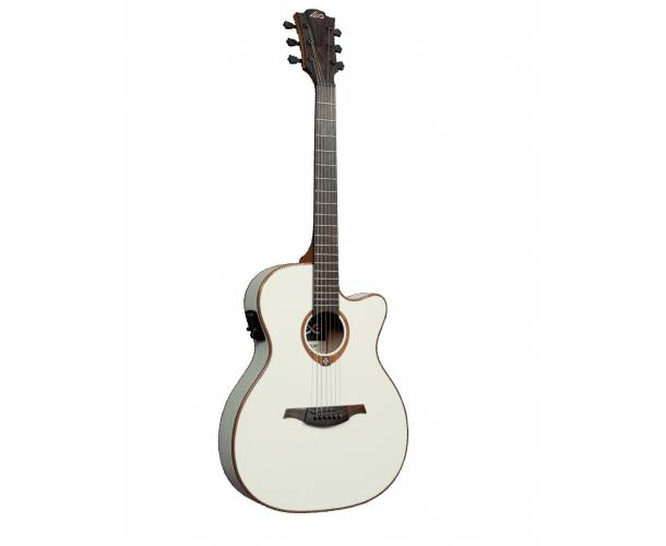 LAG - T100 ASCE IVORY SLIM CUTAWAY ELECTRO IVOIRE