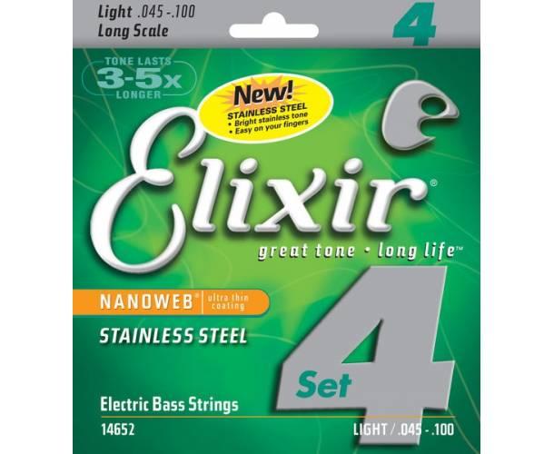 ELIXIR - NANOWEB BASS LONG SCALE STAINLESS STEEL LIGHT 45-100
